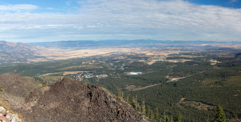 Panoramic view of Shasta Valley from the top of Black Butte.