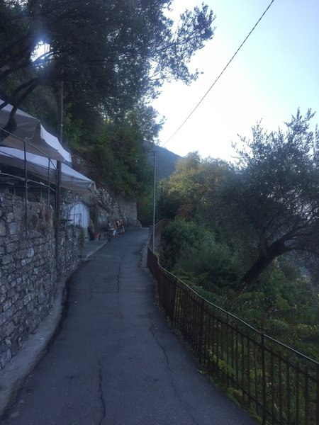 The section of trail between San Rocco and Mortola is largely paved.