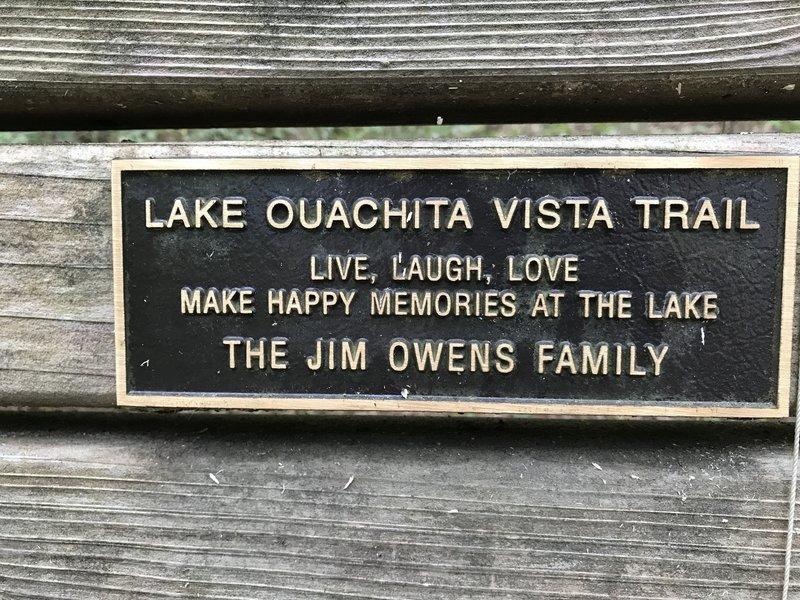 Jim Owens Family Bench.