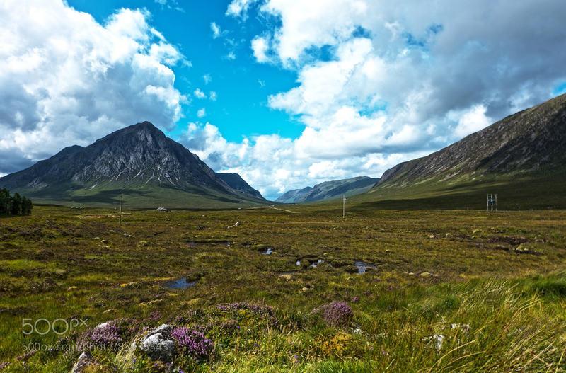 Traveling through Glen Coe, Scotland.