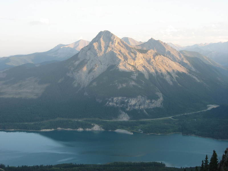 A view of Baldy on the other side of the lake.