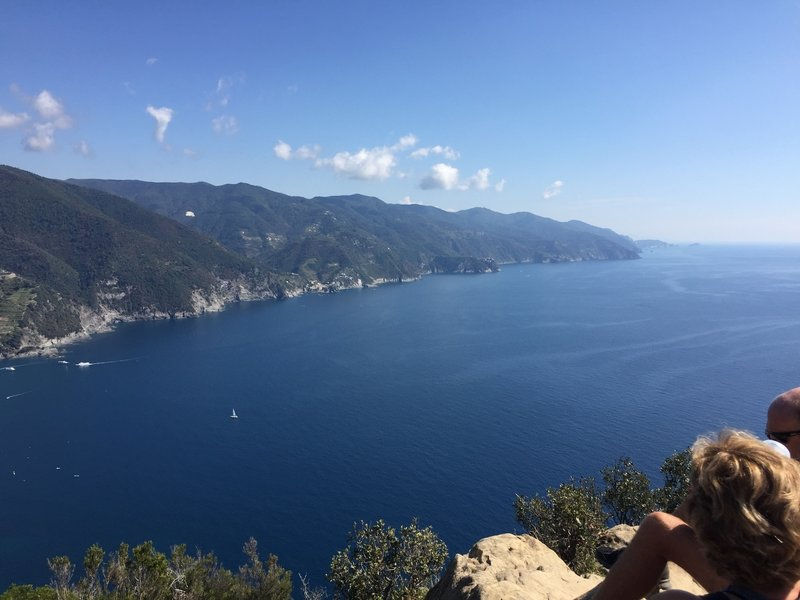 Looking down the Cinque Terre coastline... what a beautiful lookout point!