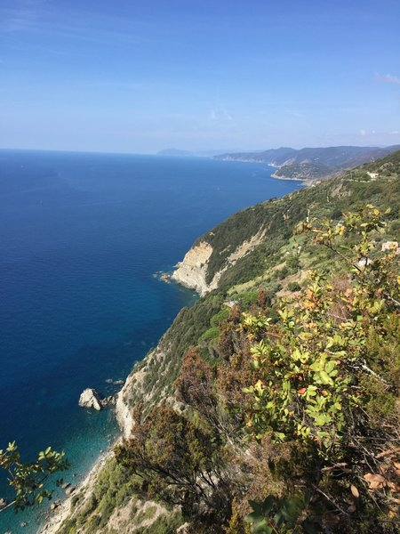 Looking back towards Levanto and the clear waters below!