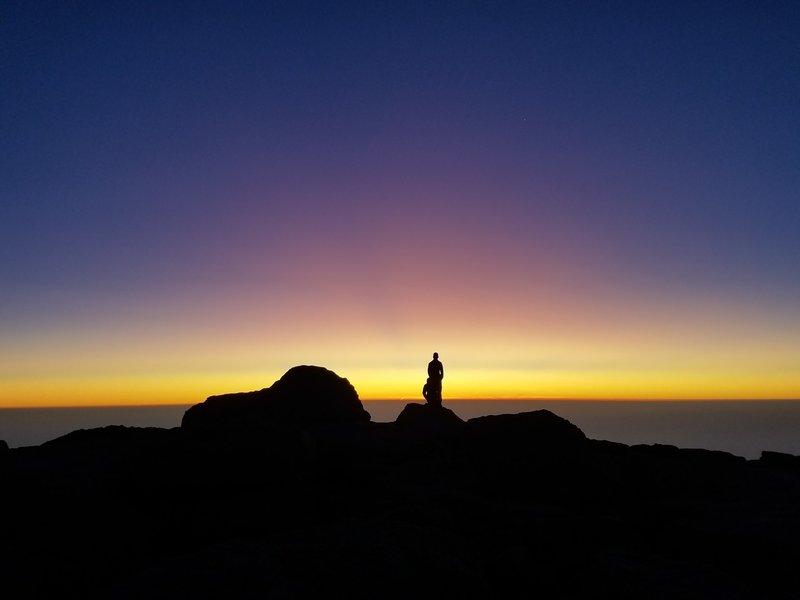 Sunrise summit of Longs Peak looking East. AMAZING!
