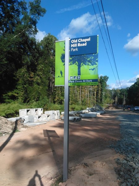 Trailhead off Old Chapel Hill Road