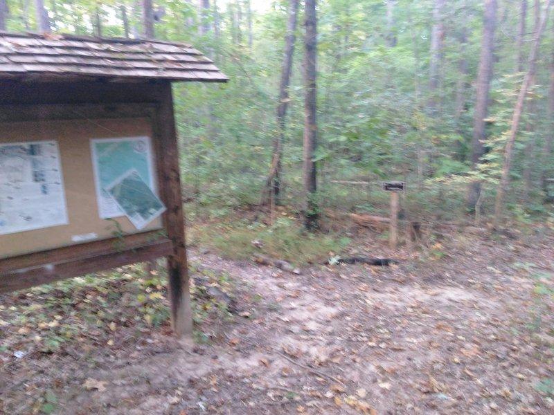 Trail Kiosk from Southwest Durham Road.