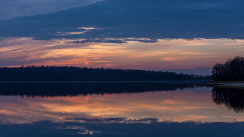 After sunset on Merrill Creek Reservoir.