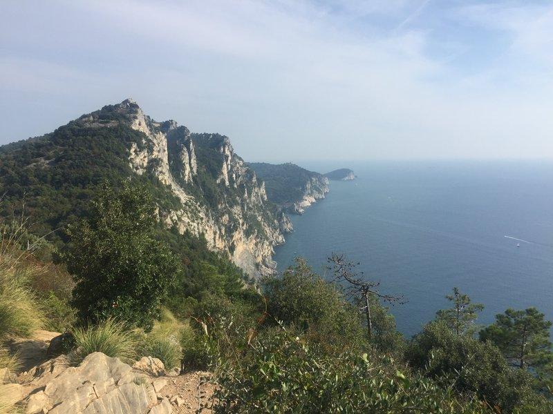 The cliffs looking towards Porto Venere