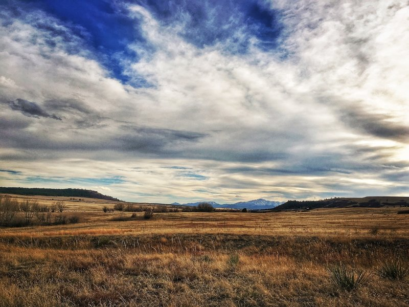 Catch beautiful glimpses of Pikes Peak as you do the Palmer Divide Ranch Loop.