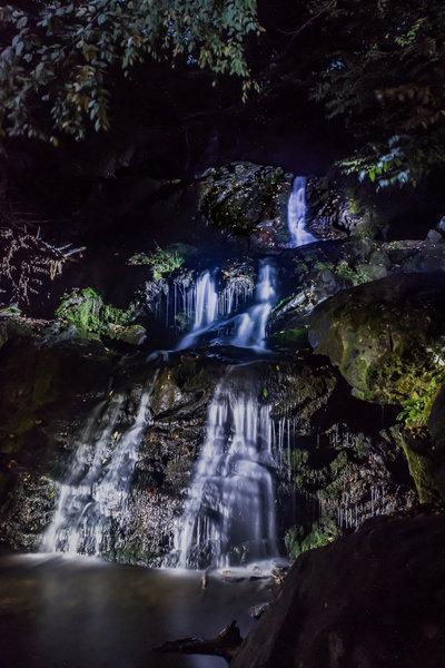 Night shot of Dark Hollow Falls