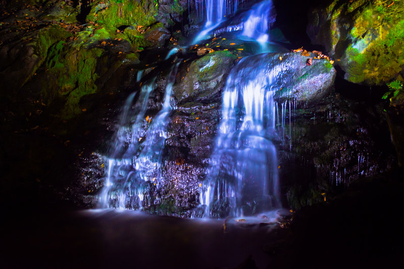 Dark Hollow Falls (night shot)