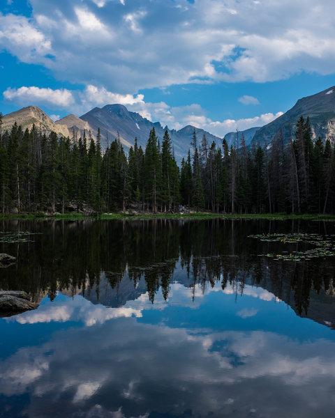 Longs Peak above Nymph Lake
