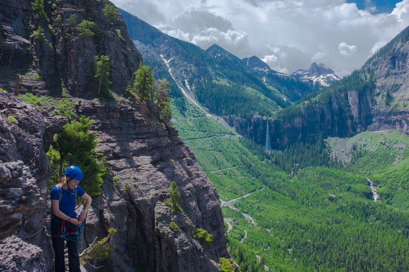 On the Telluride Via Ferrata.