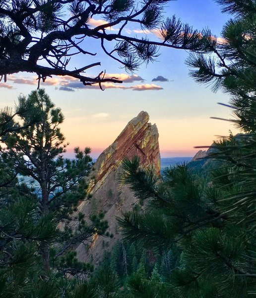 The Third Flatiron from near the top of the First-Second Flatiron Trail