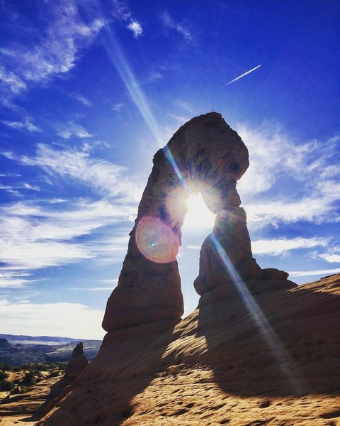 A different angle on Delicate Arch