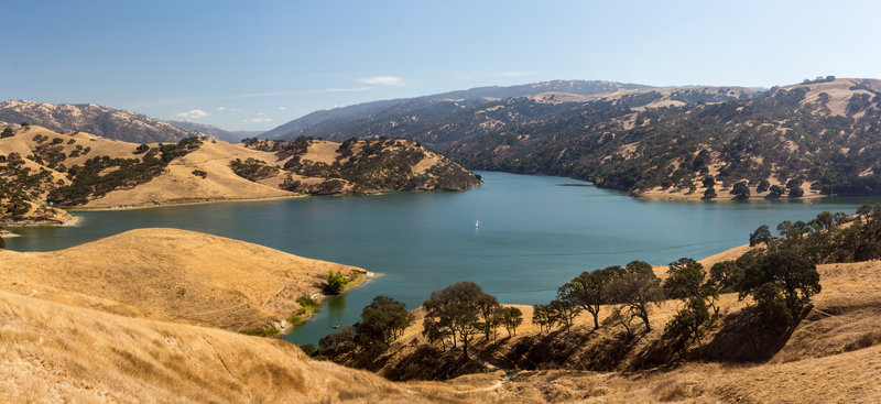 Sailing on Lake Del Valle.