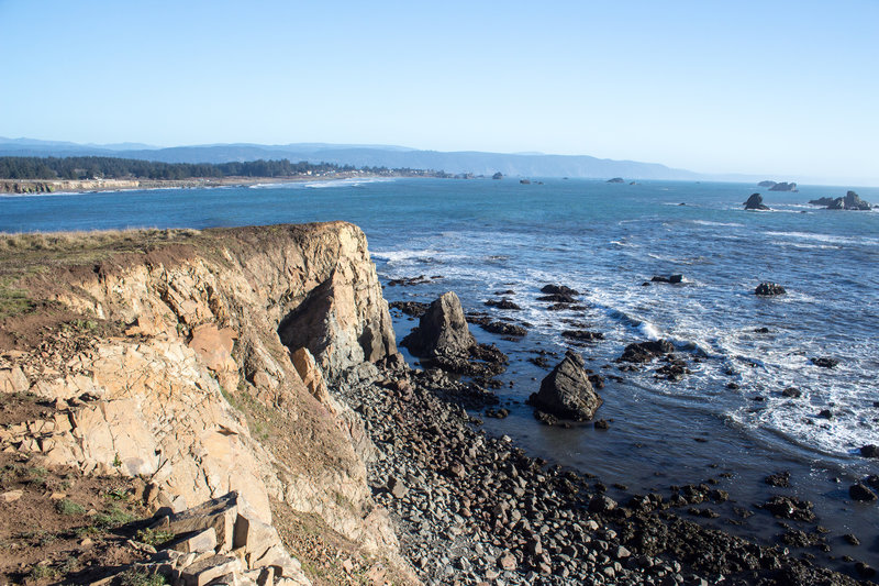 Bluffs at Point St. George with Crescent City in the background