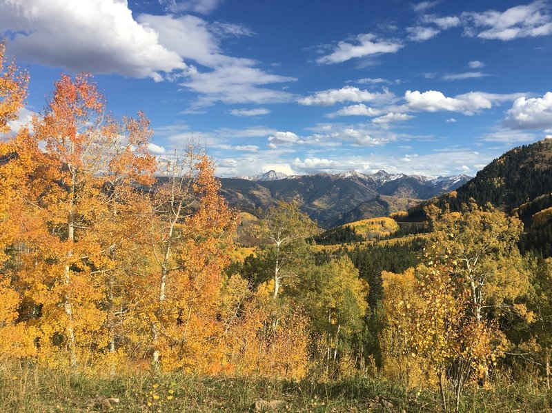 You'll get great color in the fall on the Coal Creek Trail.