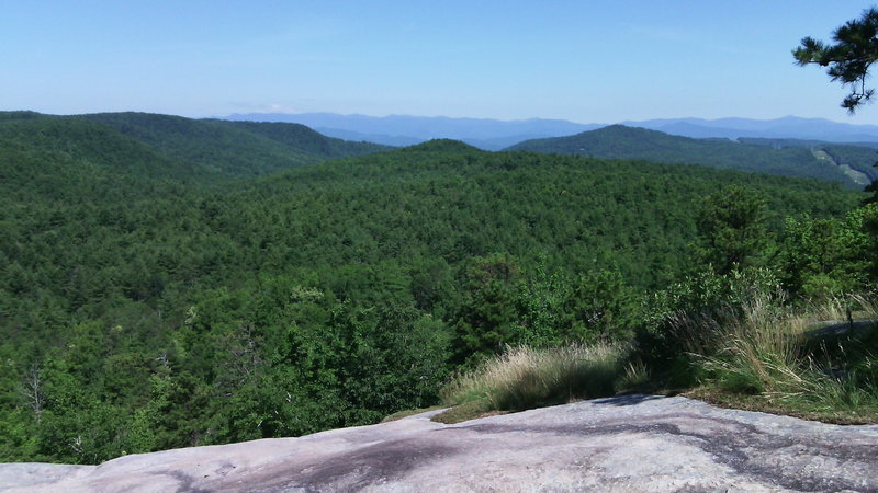 View from atop Big Rock Trail.