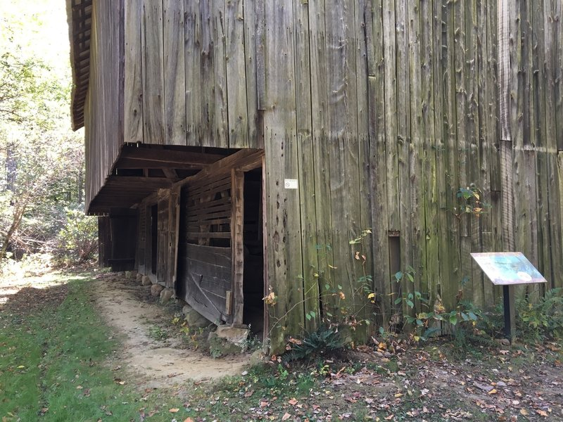 Barn just off the trail—open for exploration.