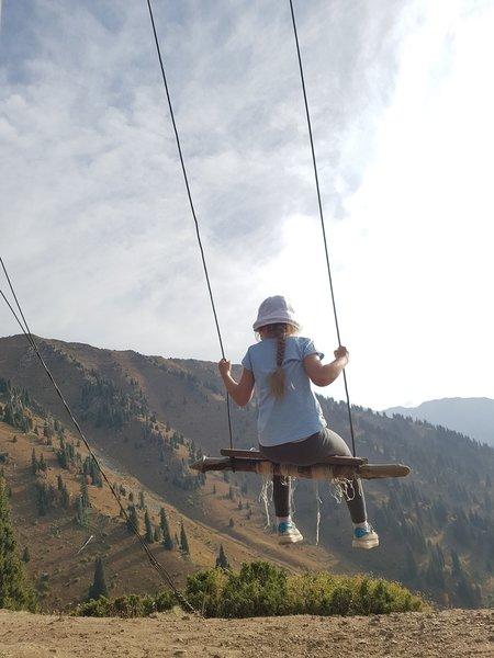 Swings under the sky.
