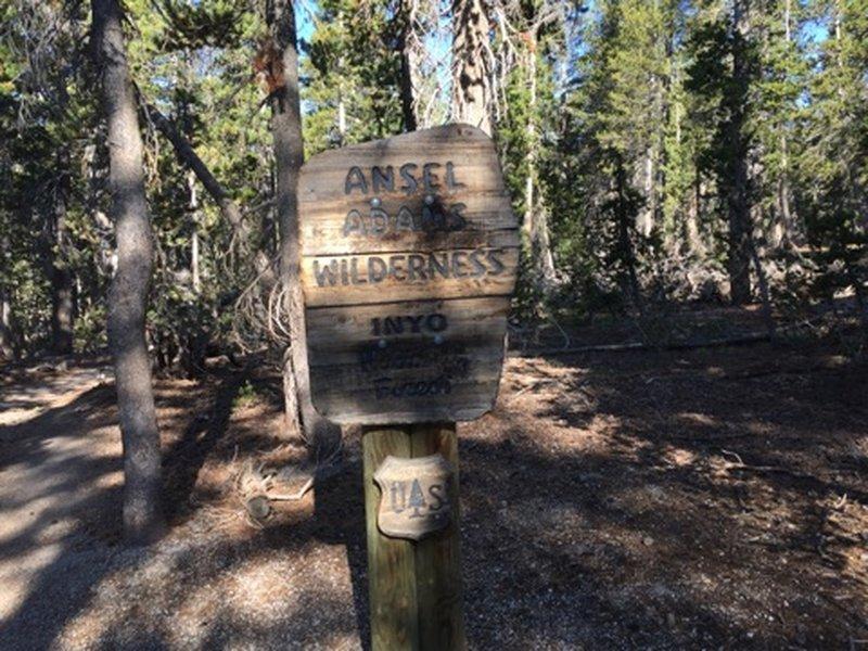 Heading though Ansel Adams Wilderness.