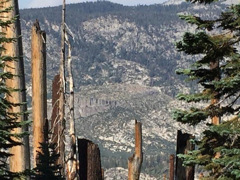View of Devils Postpile.