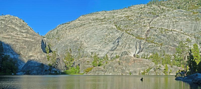 Lake 5683, beautiful, but better camping a short distance away at Lake 5810.