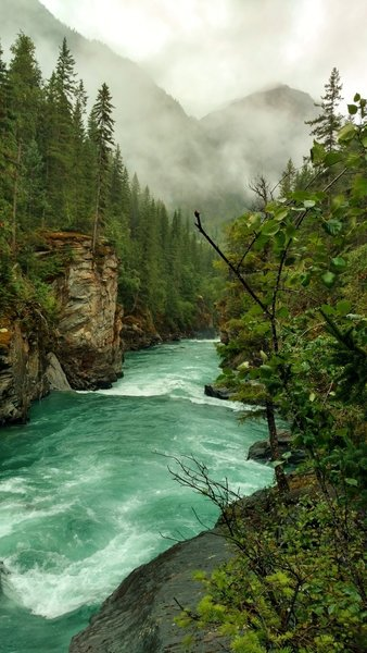 Fraser River, looking downstream from near Overlander Falls