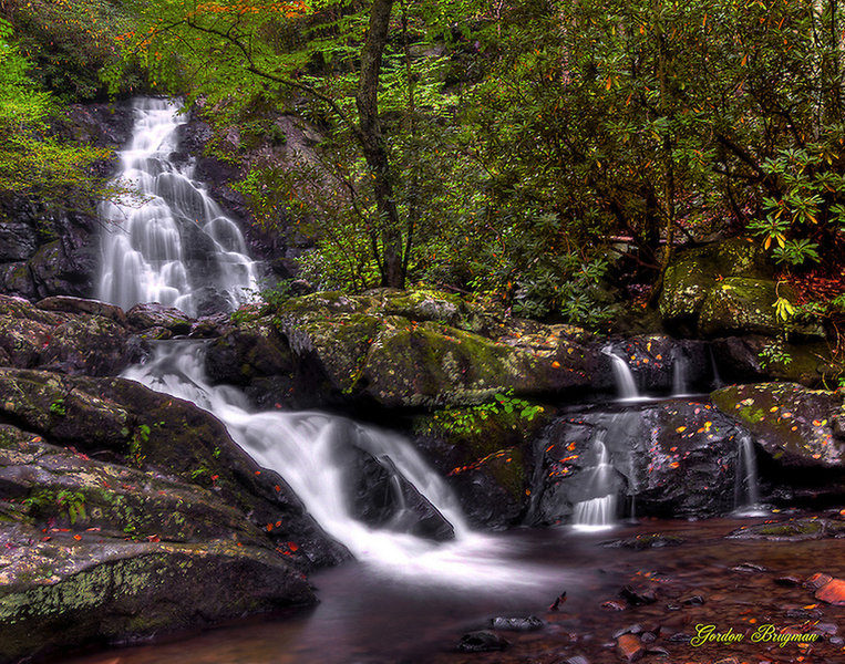 Spruce Flats Falls, early Fall. Smoky Moments Photography