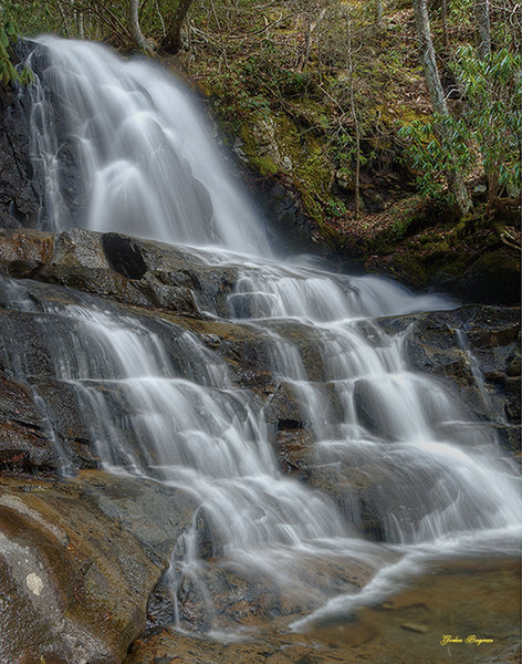 Laurel Falls by Smoky Moments Photography. Please don't attempt to climb on and around the falls. Several people have been seriously hurt falling on the slippery surfaces.