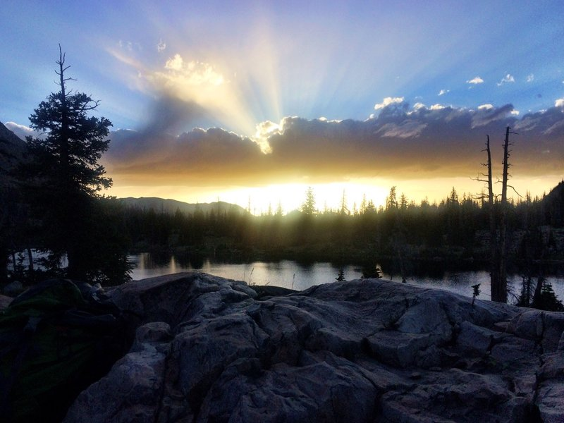 Sunset at Clyde Lake.