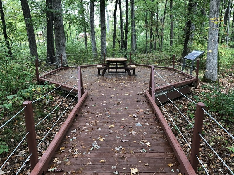 The picnic area at the end of the boardwalk.