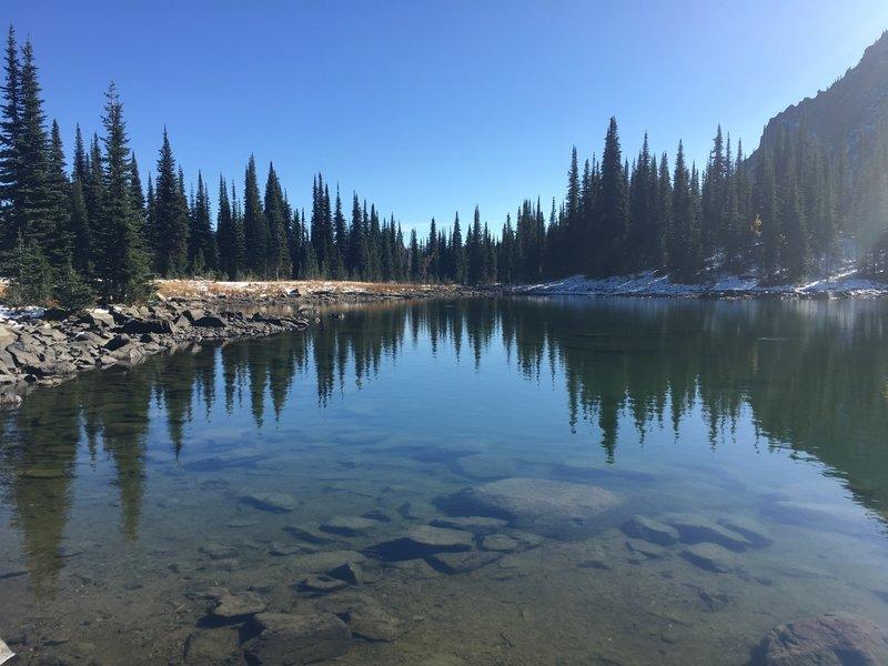 Bluebird Lake in early Oct.