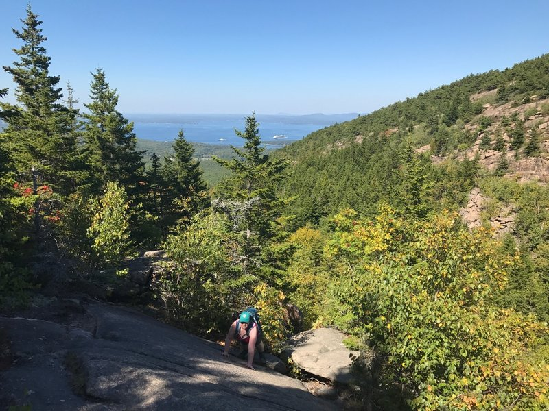 What you can expect ascending Cadillac from the East off the Gorge Trail