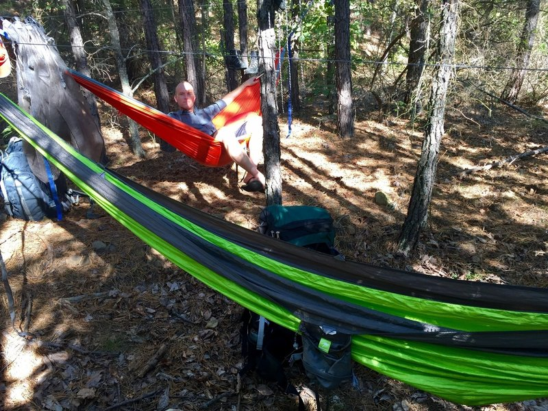 One of the few spots conducive to ground camping (area much more hammock-friendly)