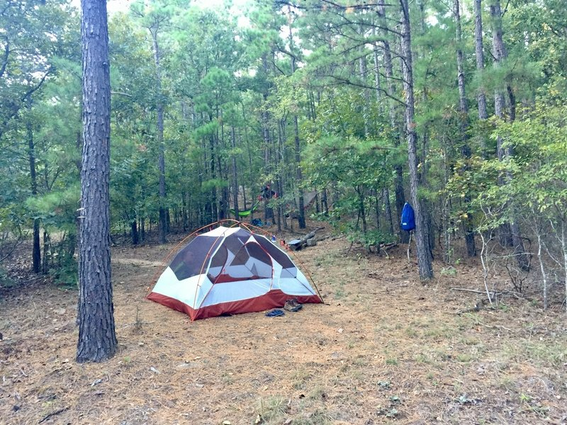 One of the few spots conducive to ground camping.