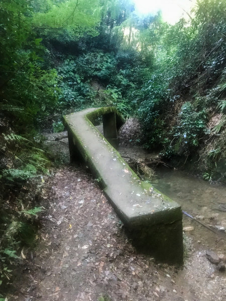 One of the small bridges to cross a small creek.