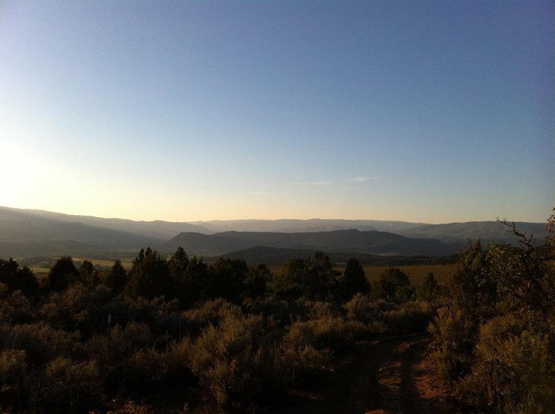 Dusk settling over the Roaring Fork Valley.