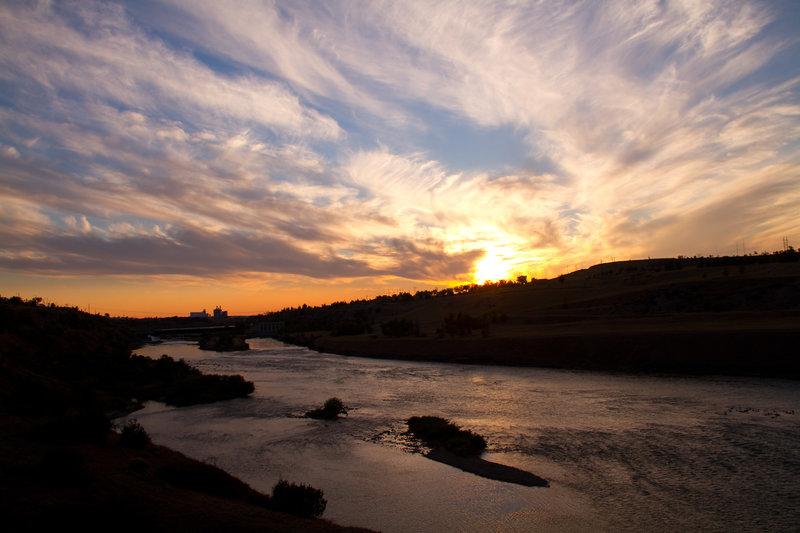 Great Falls sunset.