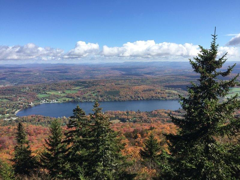 Elmore Lake from the Ridge Trail.
