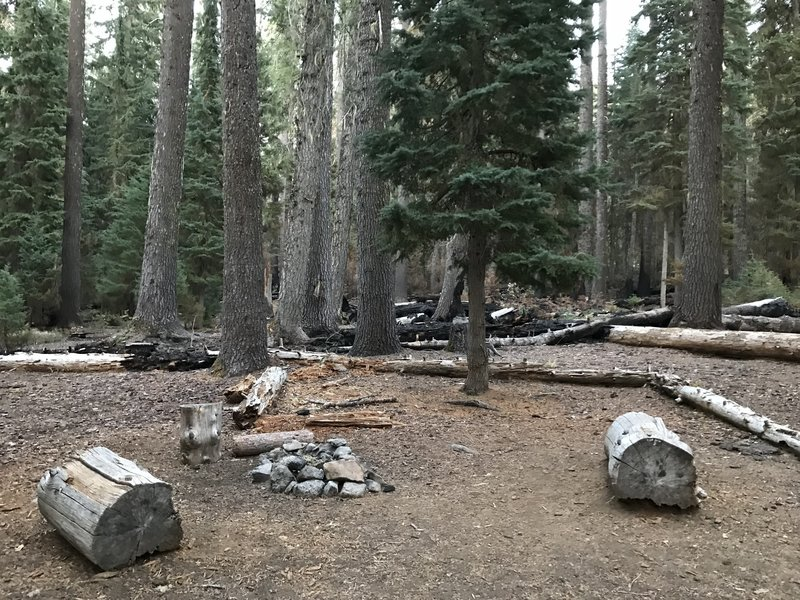 Campsite at junction of Stanshaw and Haypress Trails.