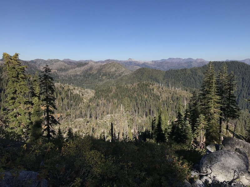View looking east from Haypress Trail toward Marble Mountain and the Pacific Crest