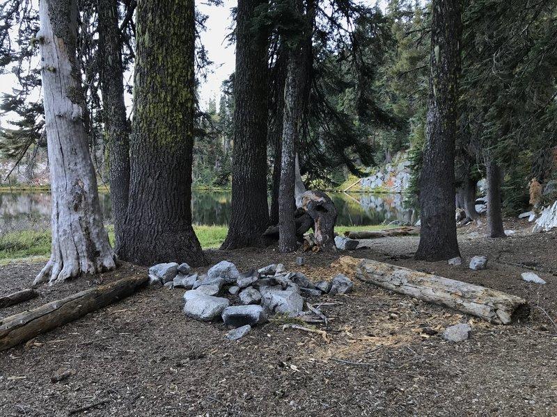 Campsite on Monument Lake