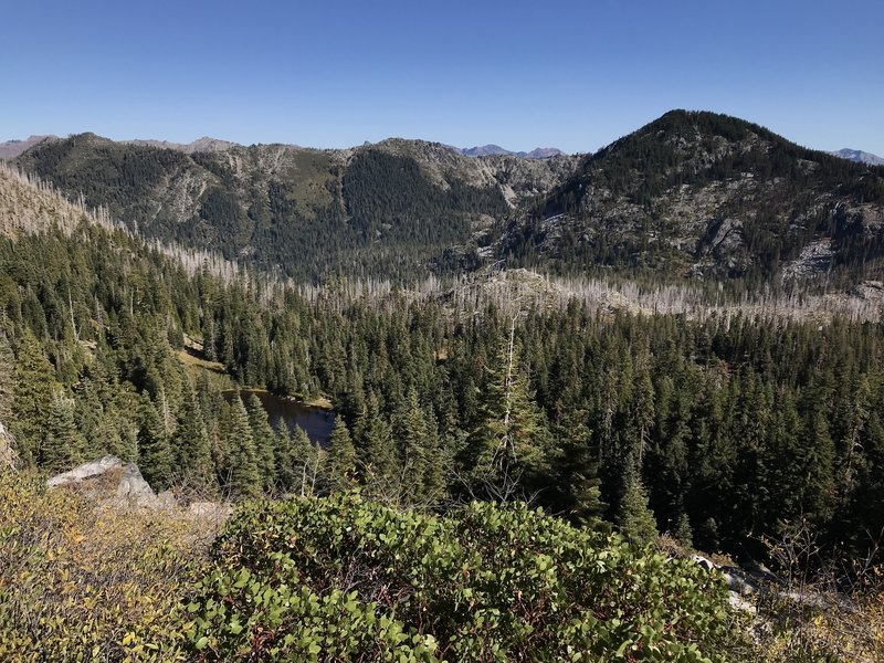 View from Ukonom-Cuddihy Trail looking northeast into Granite Lakes Basin.