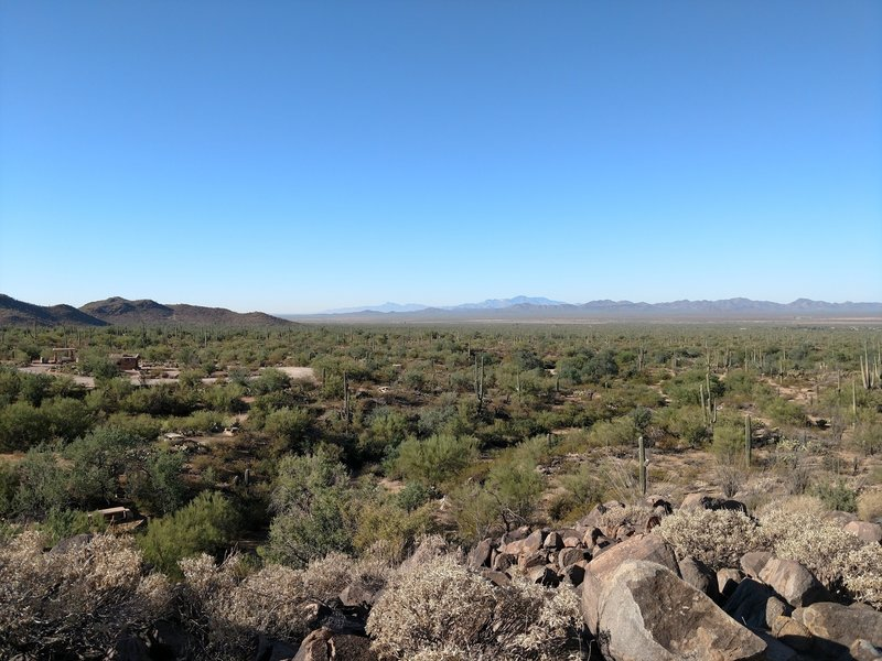 A southwest view over the Signal Hill picnic area.
