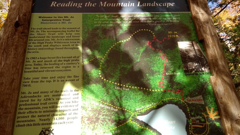 Trail map and trail intro.