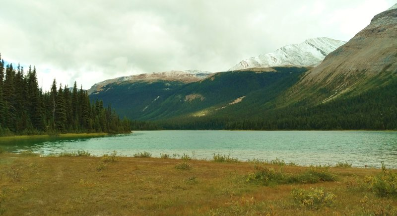 Beautiful, bluegreen Adolphus Lake on the Moose River Route