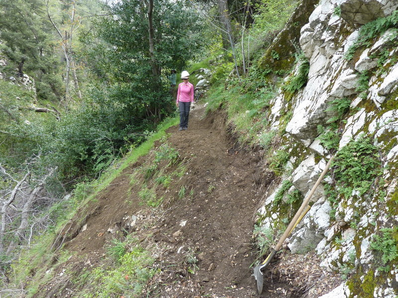 Bear Canyon Trail Crew repairing tread.