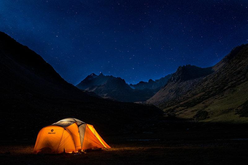 Sleeping at 3800m.